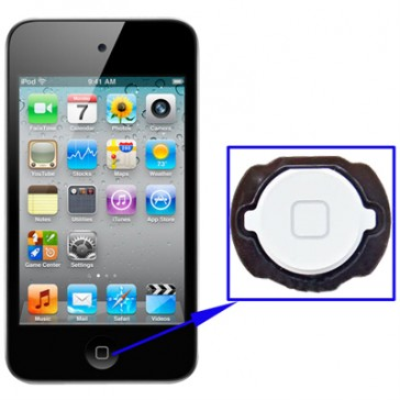 Home Button per iPod Touch 4 (Bianco)