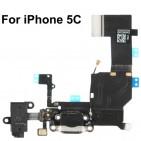 Flex: Dock Ricarica, Microfono, Antenna, Jack Cuffie per iPhone 5C (Black) - ORIGINALE