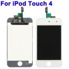 Display LCD completo di Vetro Touch e Frame per iPod Touch 4 Bianco - Originale